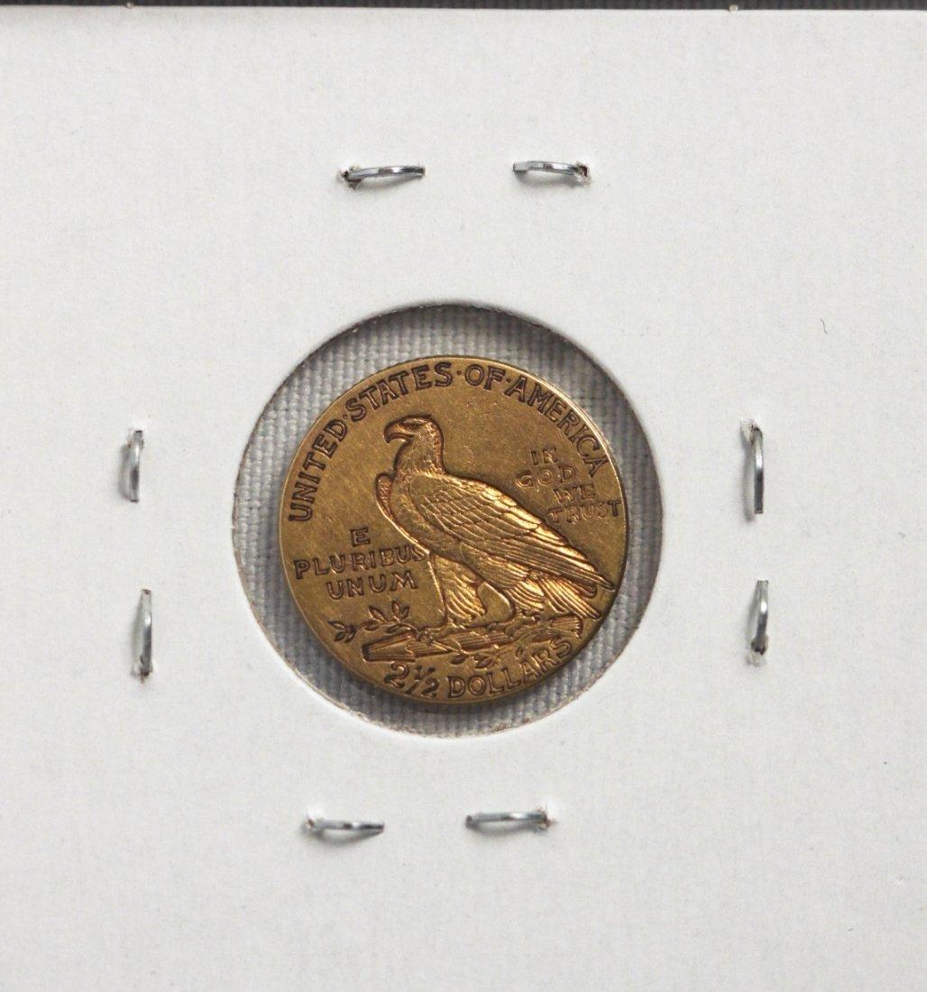 1913 $2 1/2 VF Indian Head Quarter Eagle Gold Coin DAVE - 2