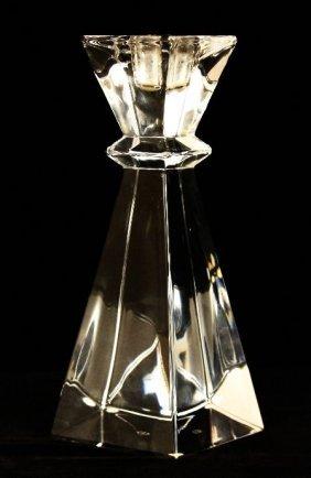 Vintage Sevres Crystal Candlestick NS92
