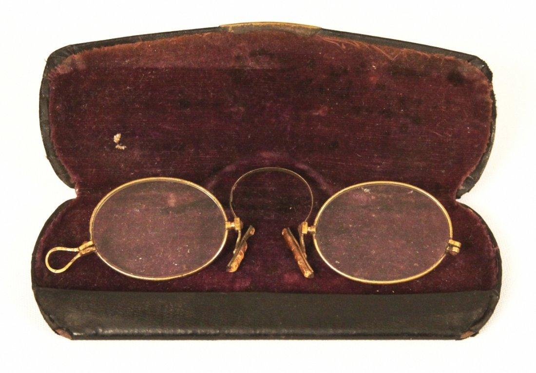 Antique Brass Pince-nez Eyeglasses Circa 1870 ED1181