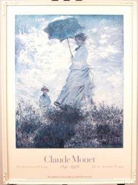 "Vintage Art Institute Of Chicago ""Claude Monet"" 1995 Po"