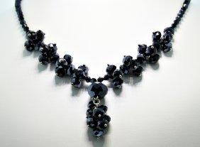 Glam-Black Crystal Necklace CN61