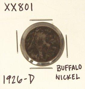 1926-D Buffalo Nickel XX801