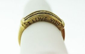 """10KT Yellow Gold """"I Love You"""" Diamond Ring .30ct GD73"""