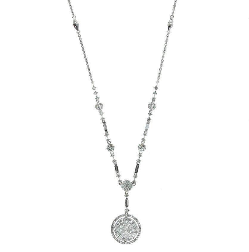 14KT White Gold 1.97ct Diamond Necklace FJM1457