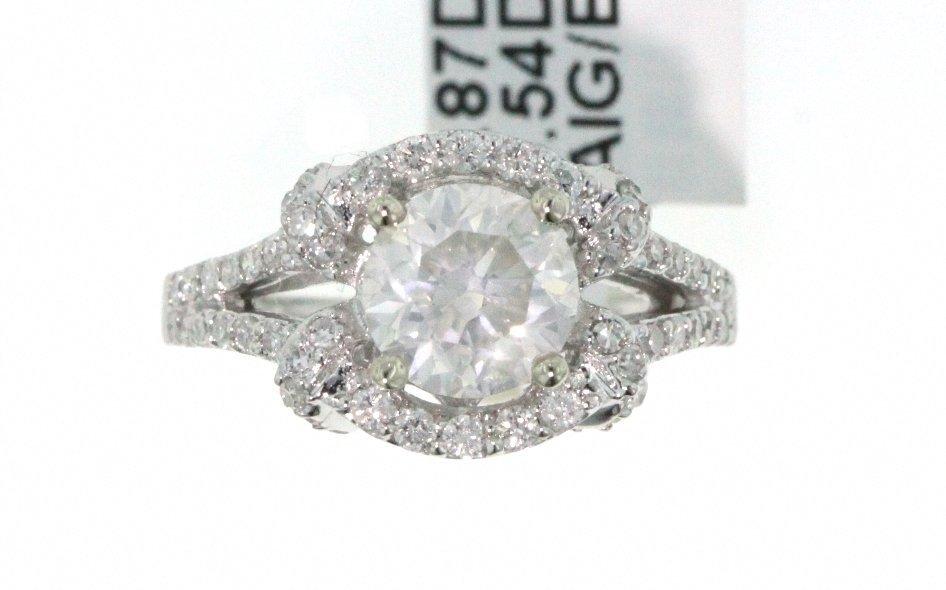 14KT White Gold 2.41ct Diamond Wedding Ring RM465