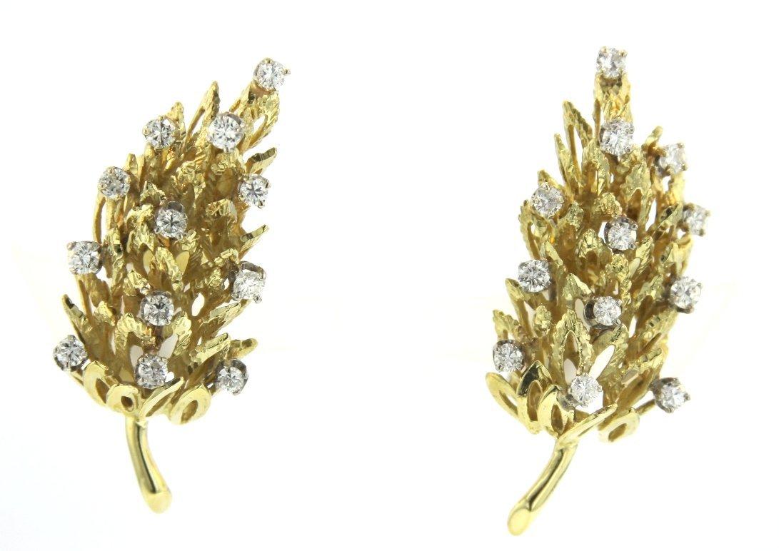 18KT Yellow Gold 1.64ct Diamond Earrings STN41
