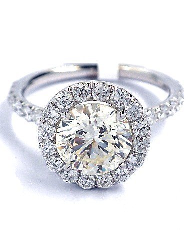 18KT White Gold 2.48ct Diamond Ring A3408