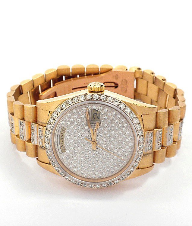 Gents Rolex 18KT Yellow Gold Super President Style Date