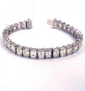 Platinum 34.16ct Diamond Bracelet A3823