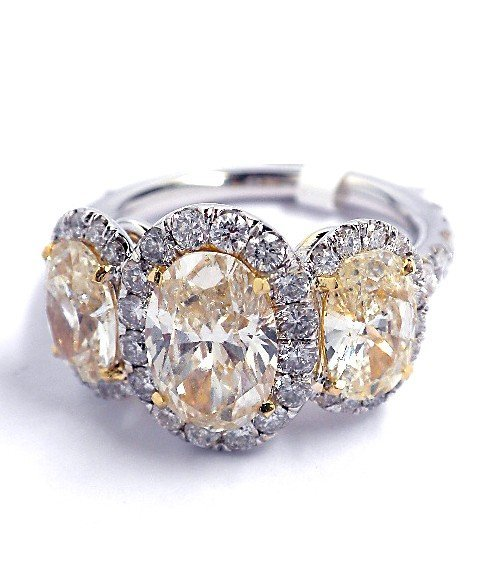 18KT Yellow and White Gold 4.35ct Diamond Unity Ring A3