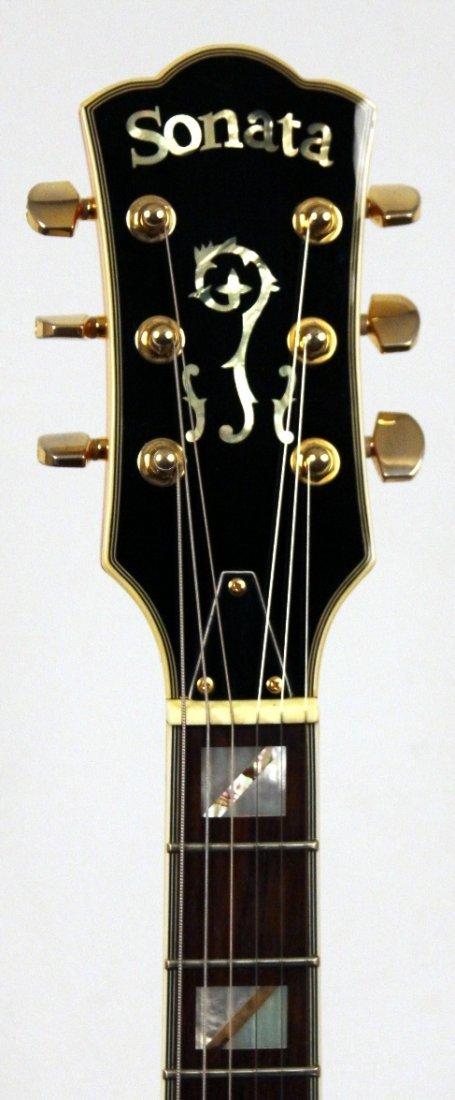 Sonata ES335 Semi-Hollow Body in Deluxe Sunburst Guitar - 4