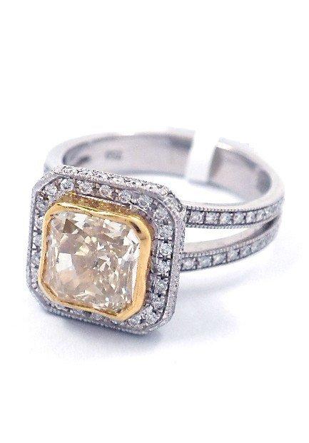 18KT White Gold 2.75tcw Diamond Ring A3913