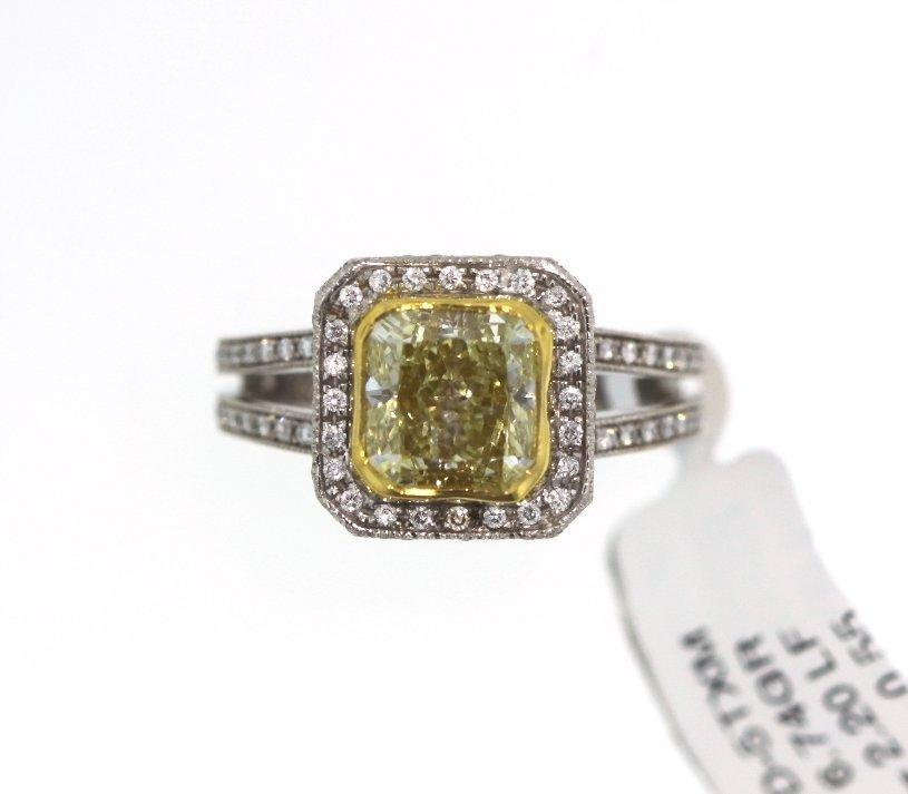 18KT White Gold 2.75tcw Diamond Ring A3913 - 2