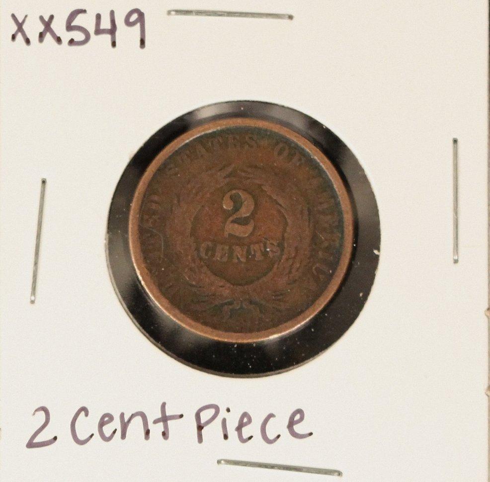 Two Cent Piece XX549