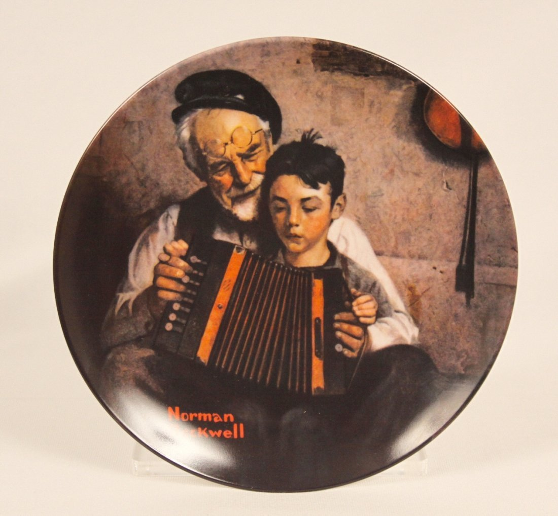 """Knowles Collector Plate """"Music Maker"""" by Norman Rockwel"""