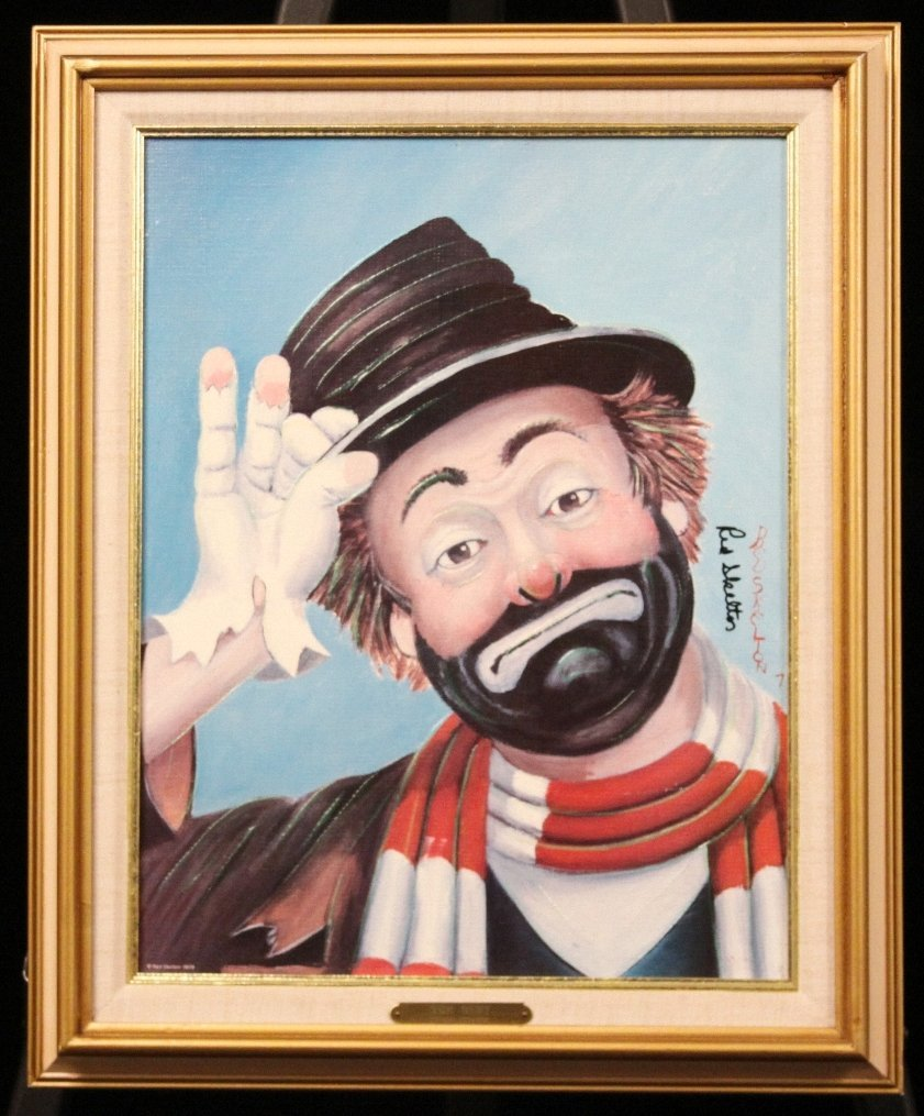 """Red Skelton """"The Gent"""" Hand Signed Giclee on Canvas MA3"""