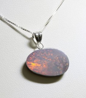 Sterling Silver Opal Doublet Necklace RTJ466