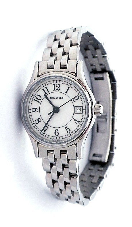 Ladies Tiffany and Co Stainless Steel Wristwatch A3484