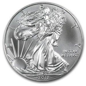 2012 American Silver Eagle Dollar GEM BU Coin MNTCN2