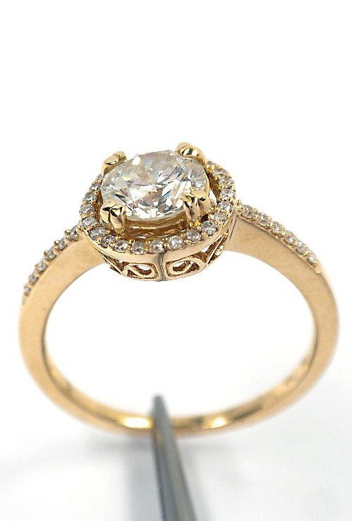 14KT Yellow Gold 0.96tcw Diamond Ring A3883