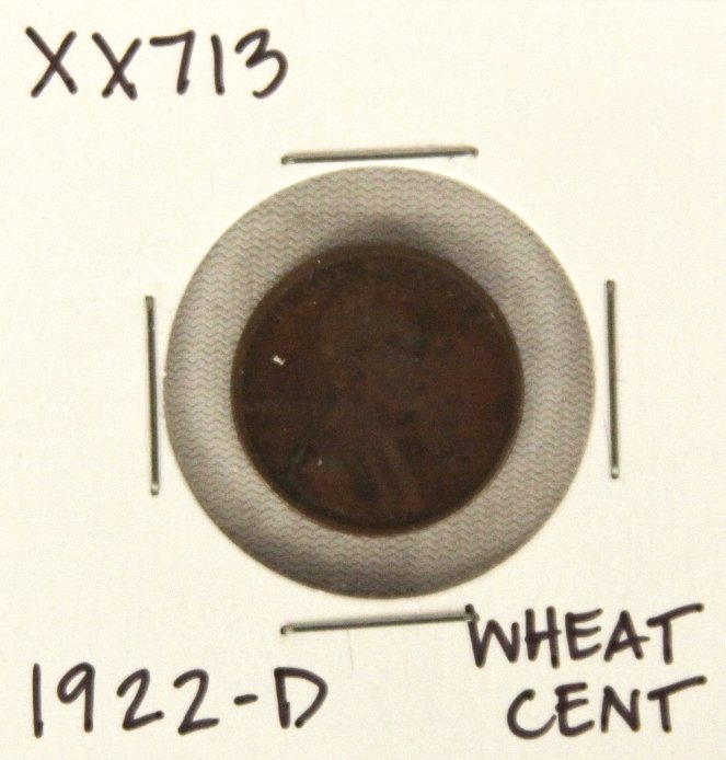 1922-D Wheat Cent XX713
