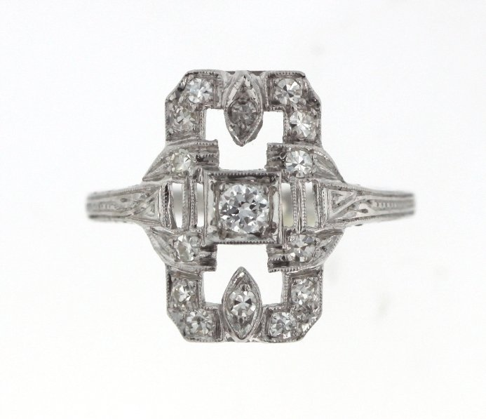 Platinum Ladies Diamond Ring STN29