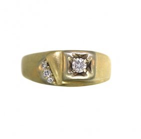 14KT Yellow Gold Diamond Ring A712