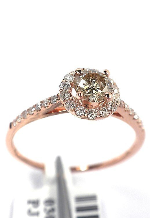 14KT Rose Gold 0.55tcw Diamond Ring A3896