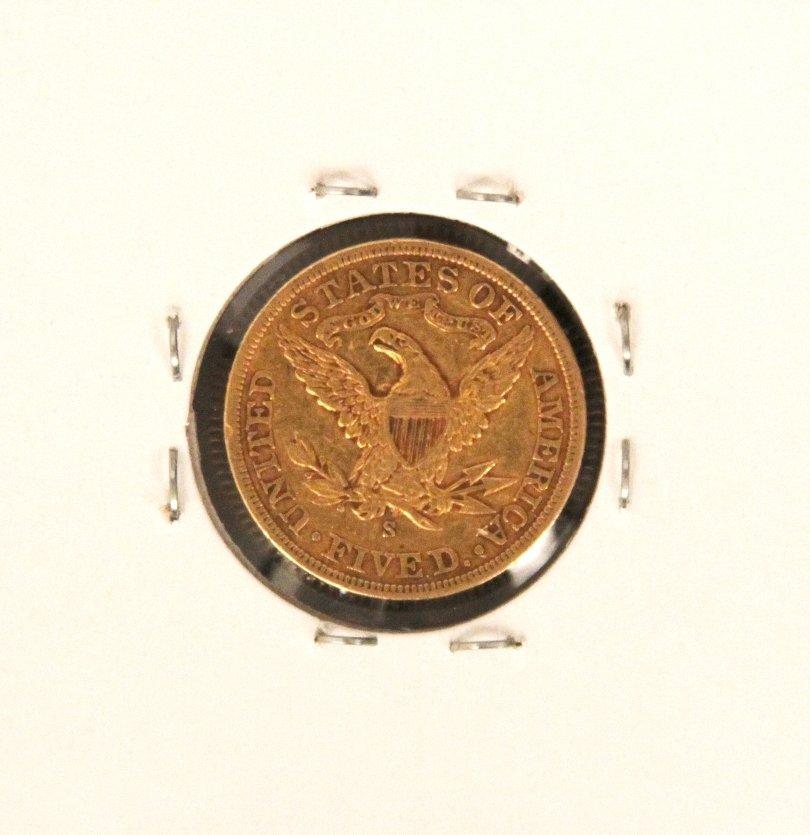 1905-S $5 XF Liberty Head Half Eagle Gold Coin DaveF545 - 2