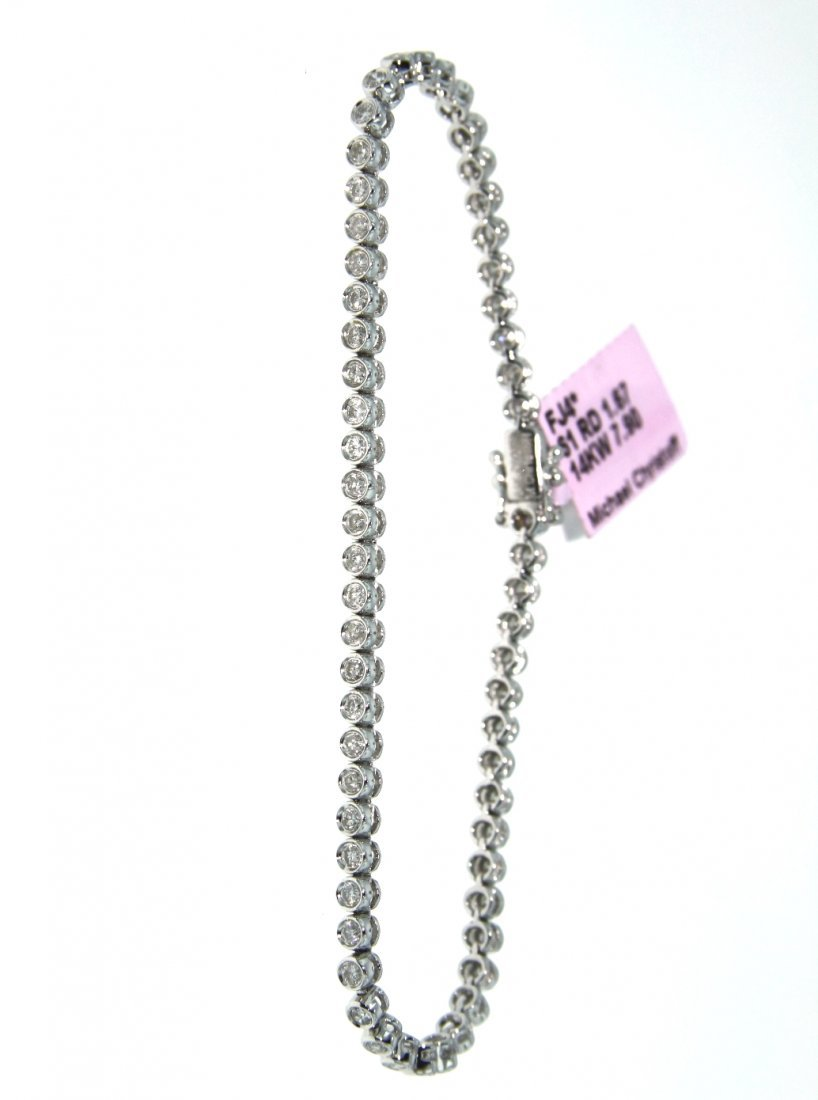 14KT White Gold 1.67ct Diamond Bracelet FJM1294