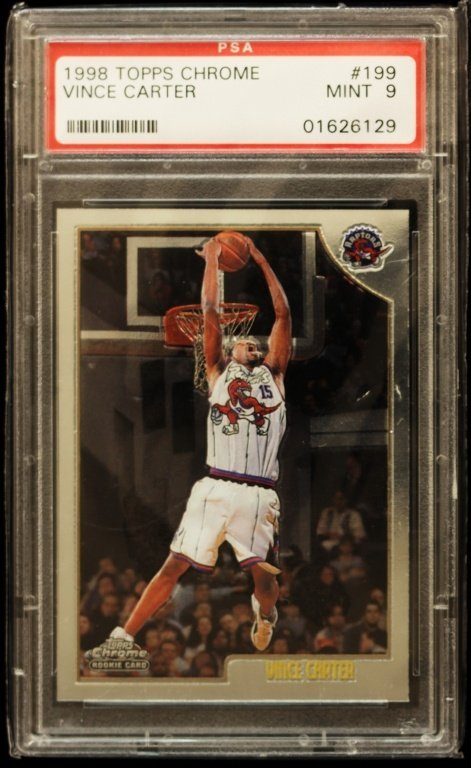 1998 Topps Chrome Vince Carter Rookie Card C229