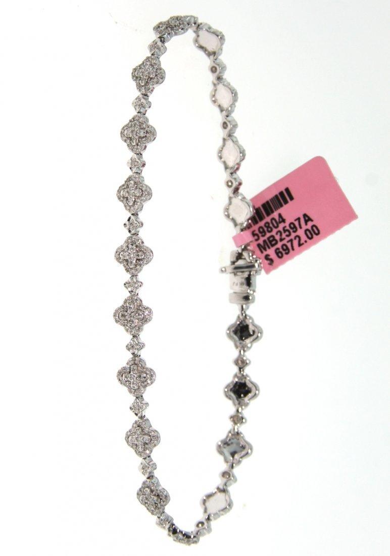 14KT White Gold 1.20ct Diamond Bracelet FJM1425