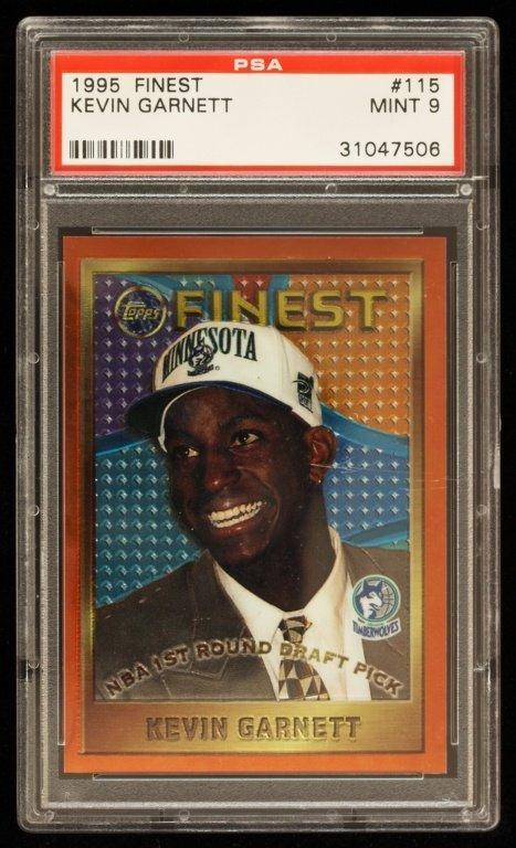 1995 Topps Finest Kevin Garnett Rookie Card C246