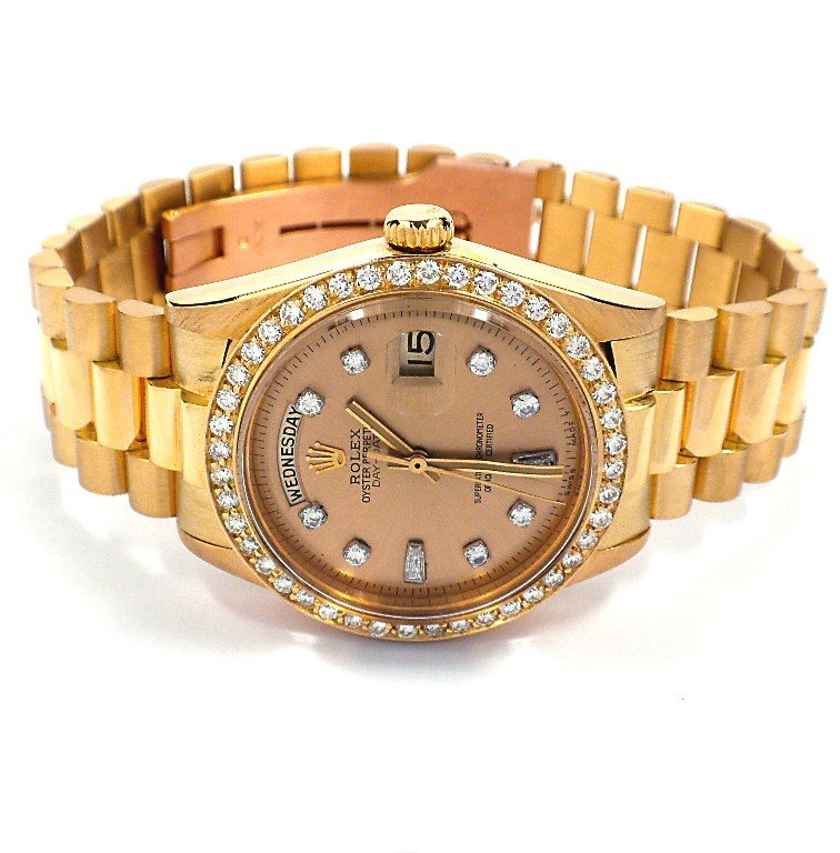 Gents Rolex 18KT Gold w/ Diamonds DayDate Wristwatch A3