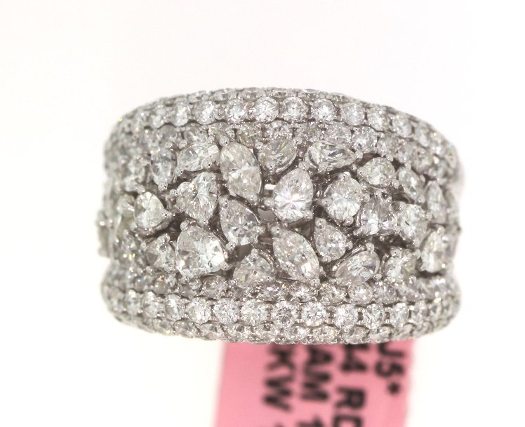 18KT White Gold 4.16ct Diamond Ring FJM1562