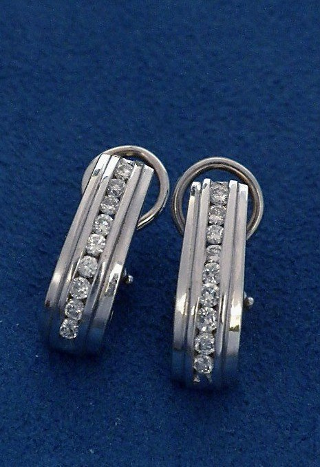14KT White Gold 0.63ct Diamond Earrings A3771
