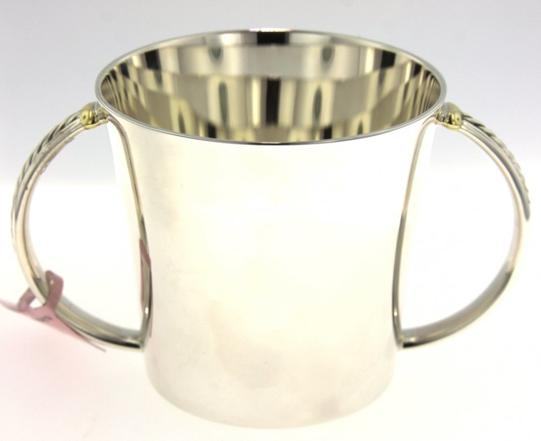 David Yurman Sterling Silver & 18KT Gold Baby Cup ED129