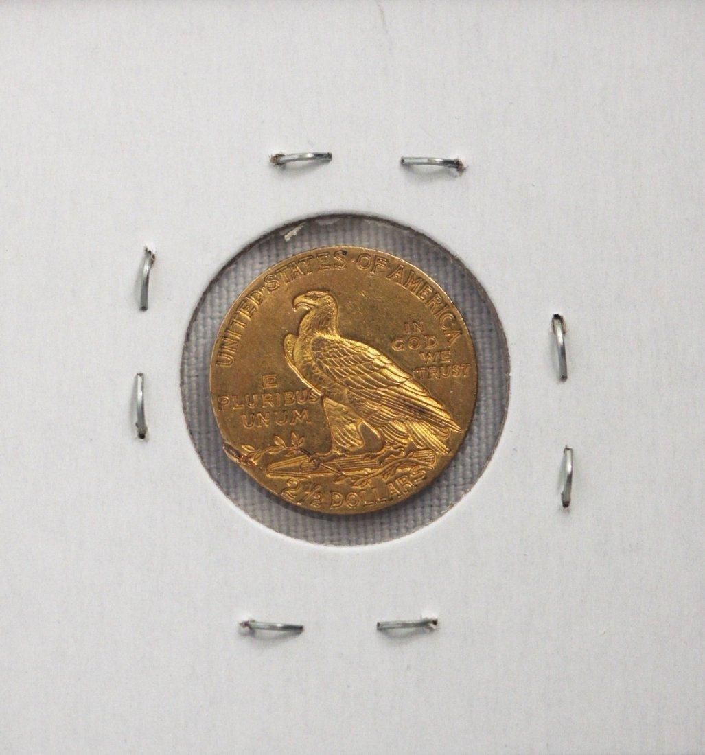 1911 $2 1/2 AU Indian Head Quarter Eagle Gold Coin DAVE - 2