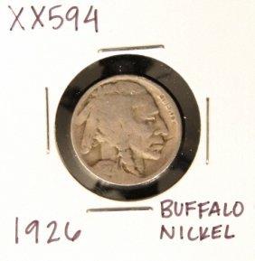 1926 Buffalo Nickel XX594