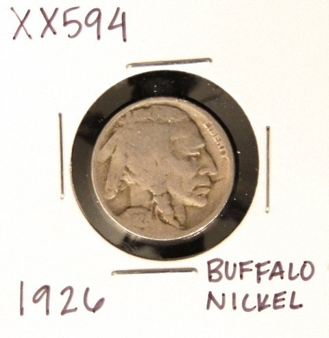 1926 Buffalo Nickel XX594