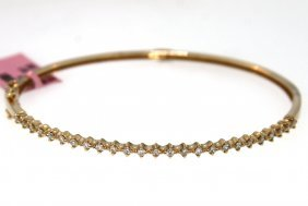 14KT Rose Gold 0.45tcw Diamond Bangle Bracelet FJM1585