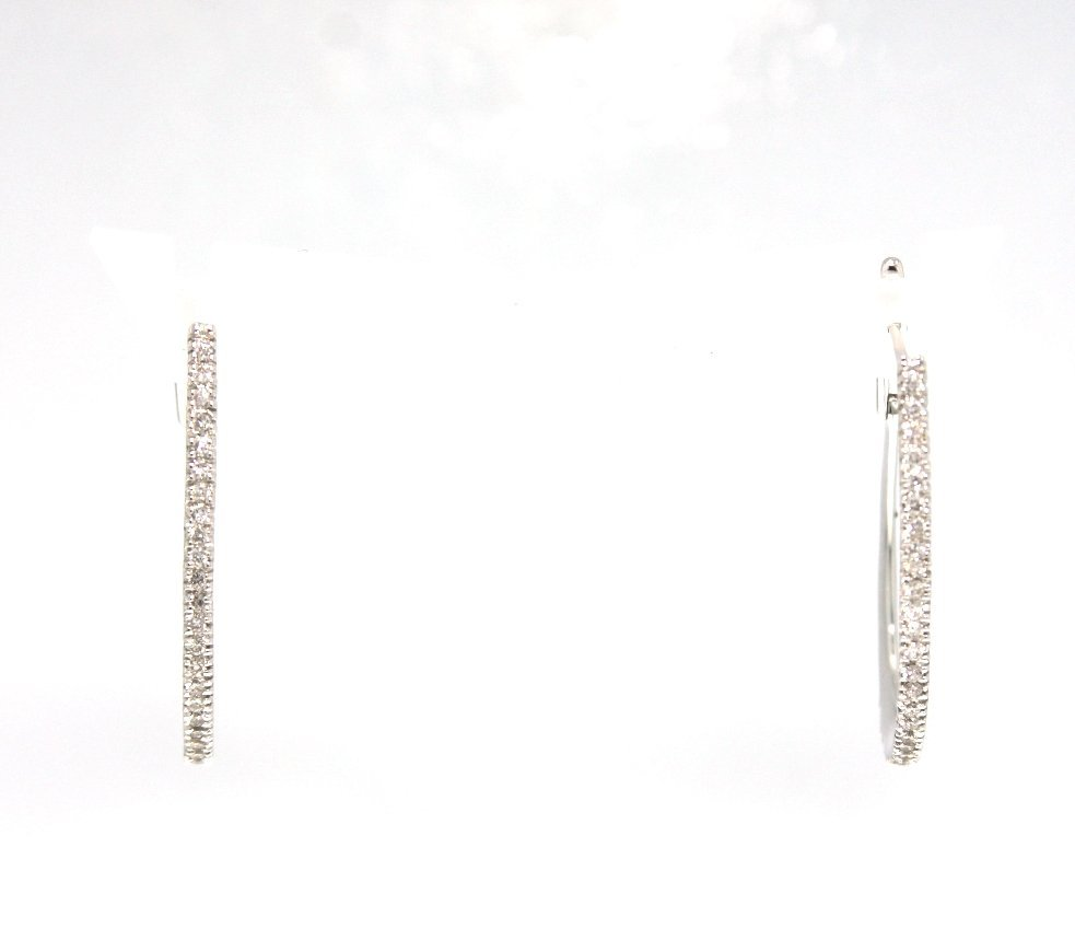 14KT White Gold Diamond Drop Earrings FJM1345
