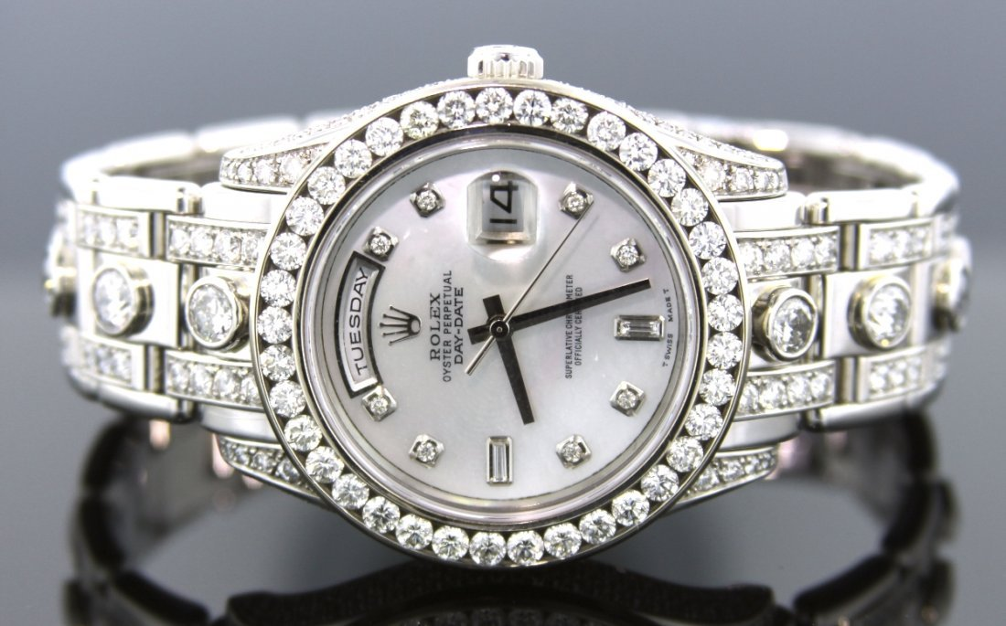 Men's Rolex DayDate Platinum Matsterpiece Diamond Watch