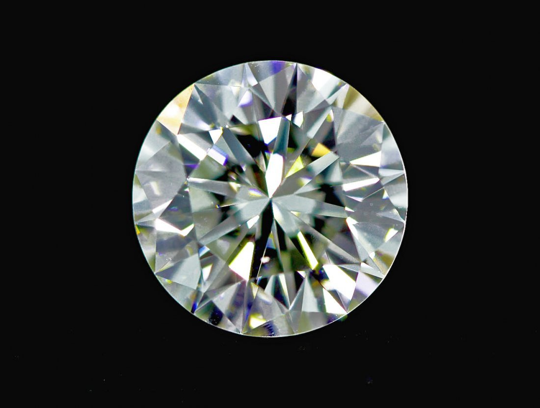 4.64ct Hearts and Arrows Round Brilliant Diamond STN67