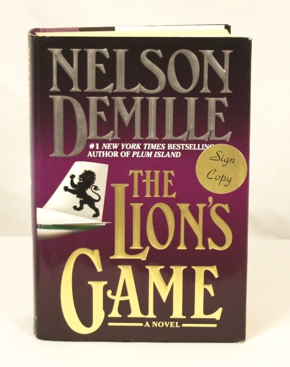 """Autographed Copy of """"The Lion's Game"""" BK11"""
