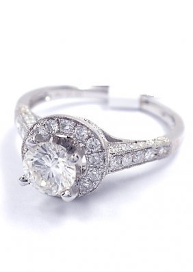 14KT White Gold 1.17ct Diamond Unity Ring A3806