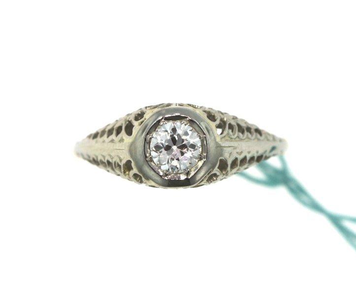 14KT Yellow Gold 0.50tcw Diamond Vintage Wedding Ring A