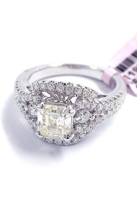 18KT White Gold 1.59ct Diamond Ring FJM1316