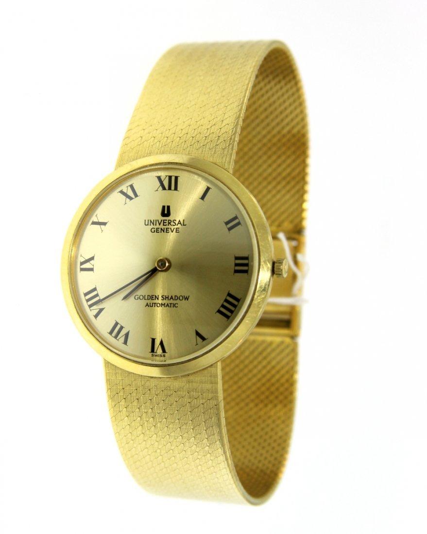 18KT Yellow Gold Universal Geneve Golden Shadow Watch G