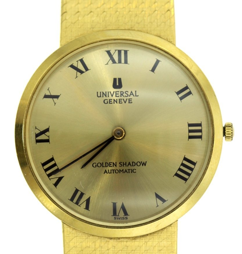 18KT Yellow Gold Universal Geneve Golden Shadow Watch G - 2